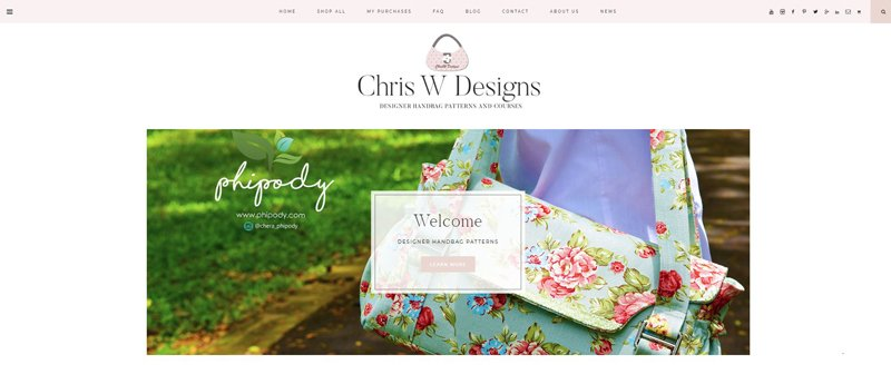 New ChrisW Designs Website